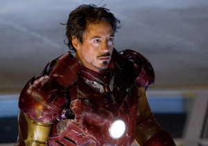 Robert Downey Jr. shows his range by wearing a goatee, in his role as the evil Michael Knight